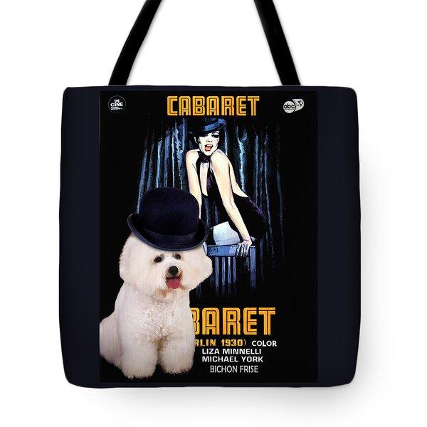Bichon Frise Art - Cabaret Movie Poster Tote Bag