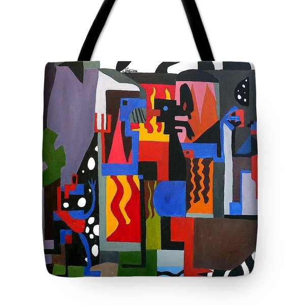 Tote Bag featuring the painting Bicloptochotik by Ryan Demaree