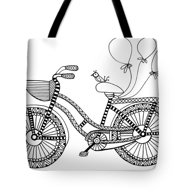 Bicycle Baloons Tote Bag