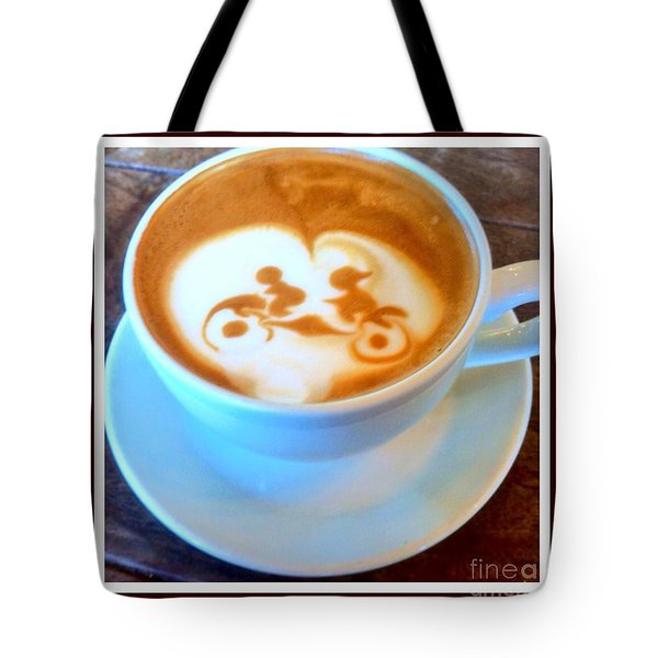 Bicycle Built For Two Latte Tote Bag