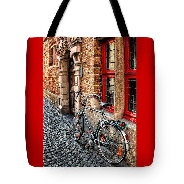 Bicycle In Bruges Tote Bag