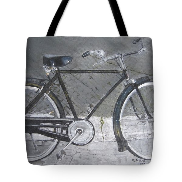 Bicycle In Rome Tote Bag