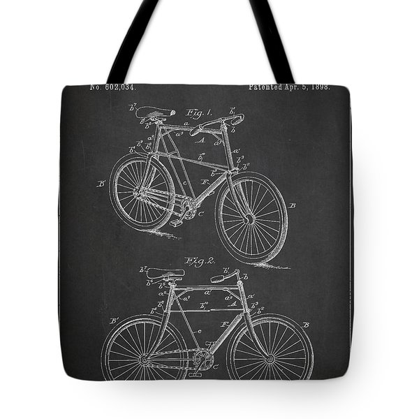 Bicycle Patent Tote Bag by Aged Pixel