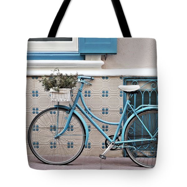 Vintage Bicycle Photography - Bicycles Are Not Only For Summer Tote Bag