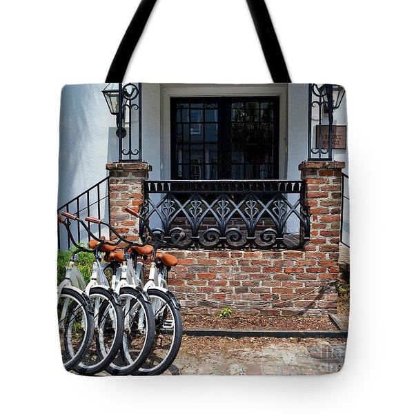Bicycles In Charleston Tote Bag