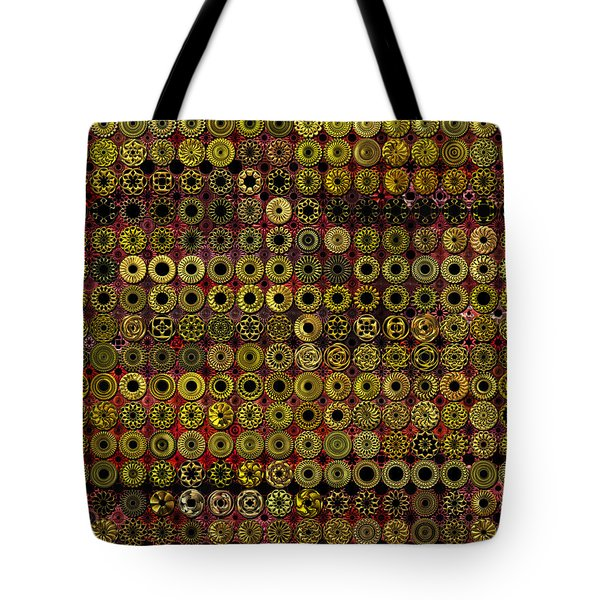 Biding Time In The Gold Flocked Basement Twixt Death And Funeral Tote Bag