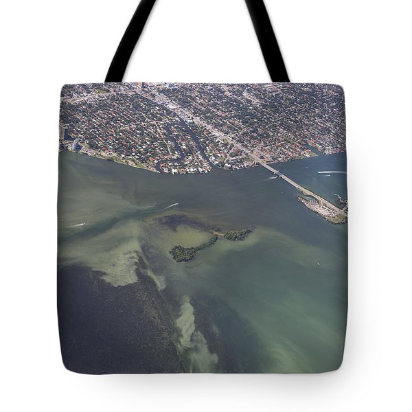 Bidr's Eye View Of Beautiful Miami Beachfront Tote Bag by Angela A Stanton