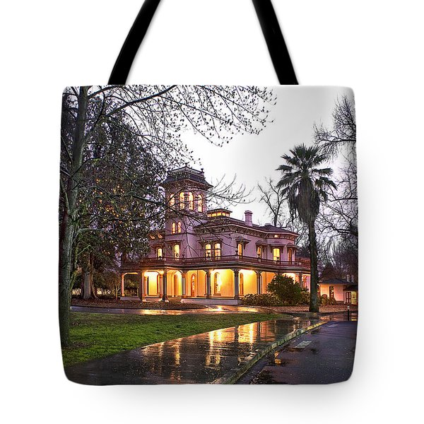 Bidwell Mansion In The Rain  Tote Bag