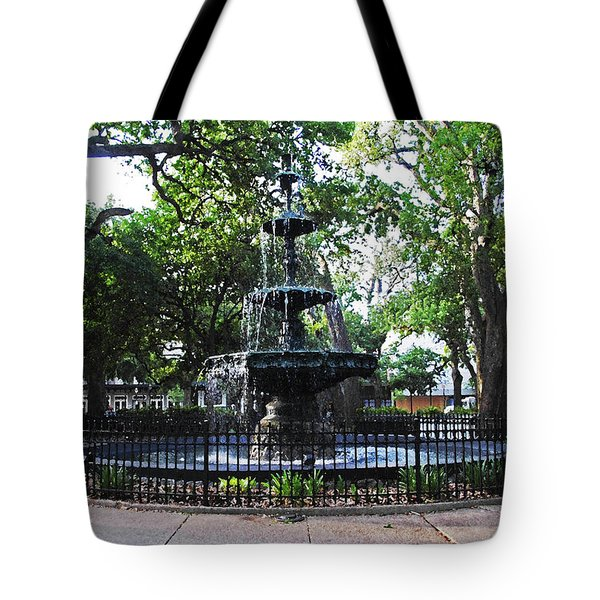 Bienville Fountain Mobile Alabama Tote Bag by Michael Thomas