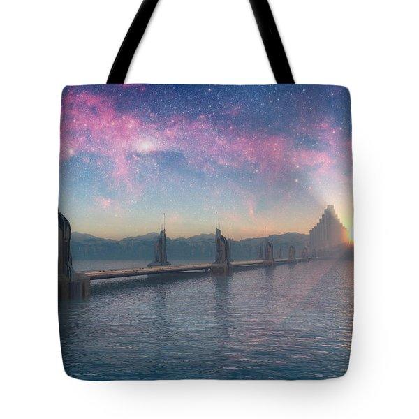 Bifrost Bridge Tote Bag by Cynthia Decker