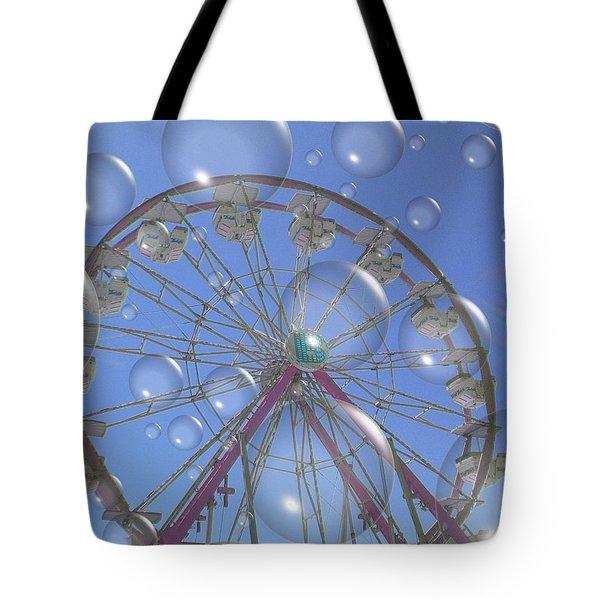 Big B Bubble Ferris Wheel Tote Bag