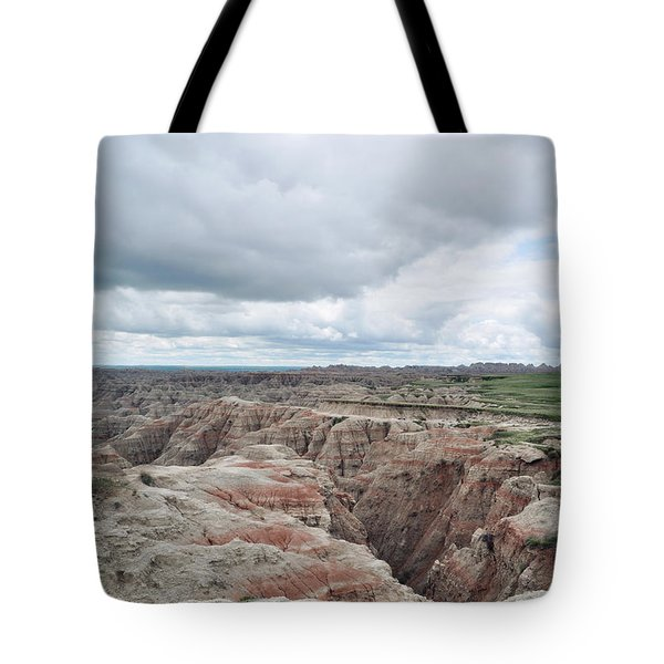 Tote Bag featuring the photograph Big Badlands Overlook by Kyle Hanson