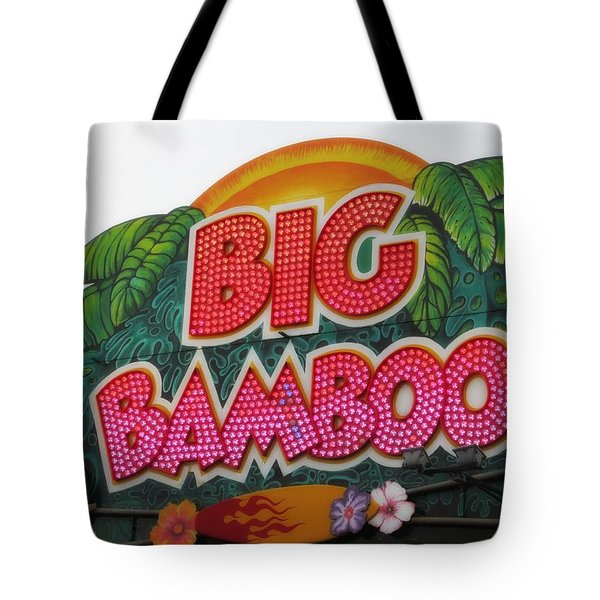 Big Bamboo Tote Bag by Alec Drake