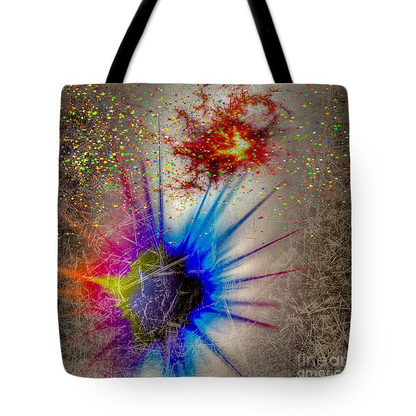 Tote Bag featuring the digital art Big Bang by Eleni Mac Synodinos