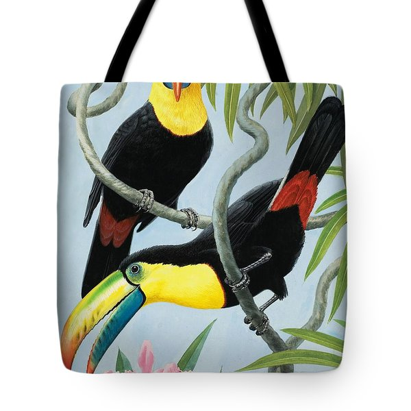 Big-beaked Birds Tote Bag by RB Davis