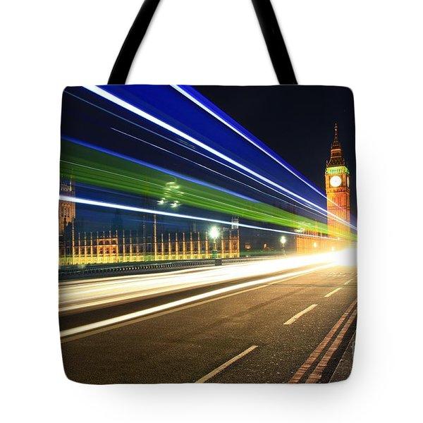 Big Ben And A Bus Tote Bag