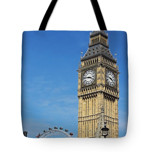 Big Ben And London Eye Tote Bag