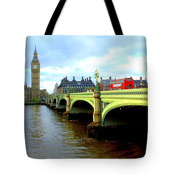 Big Ben And River Thames Tote Bag