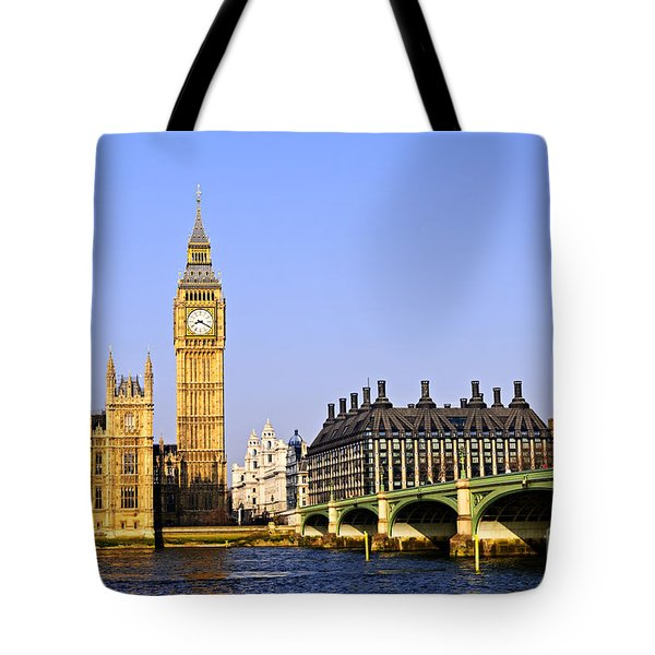 Big Ben And Westminster Bridge Tote Bag by Elena Elisseeva