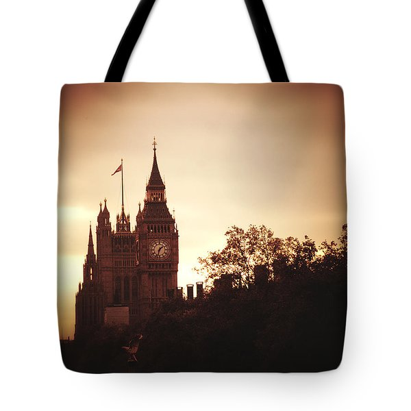 Big Ben In Sepia Tote Bag