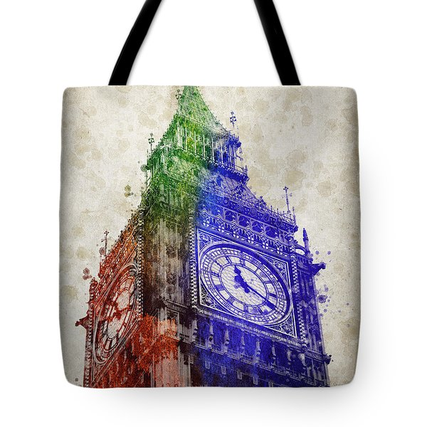 Big Ben London Tote Bag by Aged Pixel
