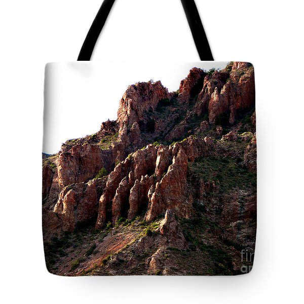The Mountain's Hand Tote Bag by Linda Cox