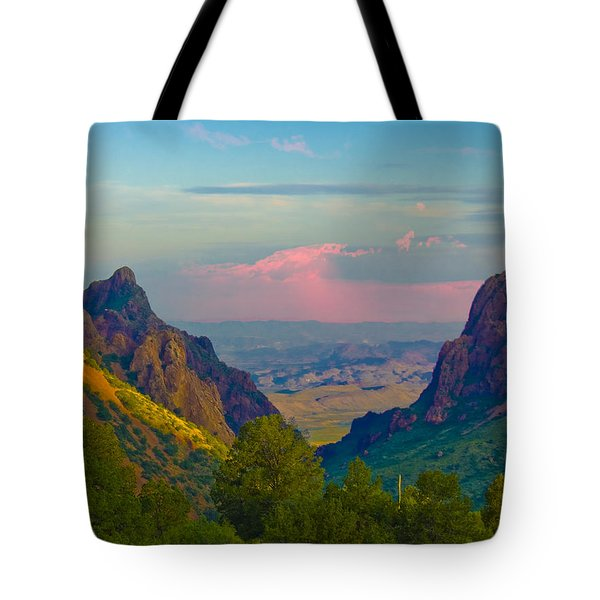 Big Bend Texas From The Chisos Mountain Lodge Tote Bag