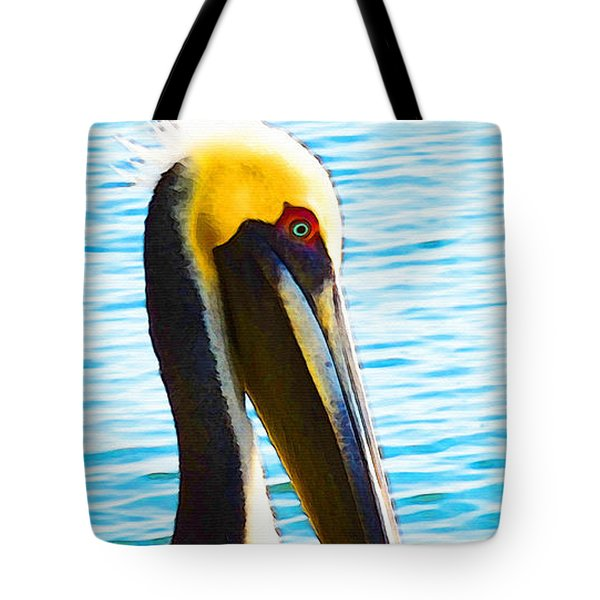 Big Bill - Pelican Art By Sharon Cummings Tote Bag by Sharon Cummings