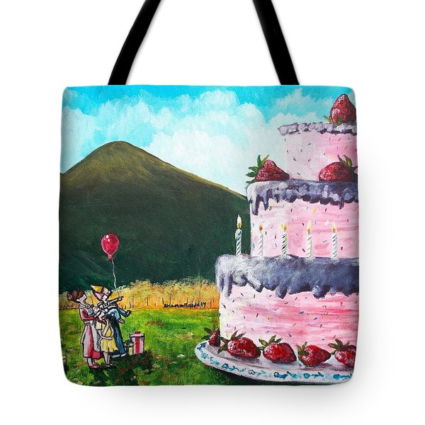 Big Birthday Surprise Tote Bag by Shana Rowe Jackson