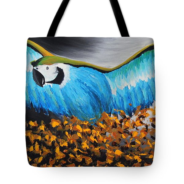 Big Blue Bird Tote Bag