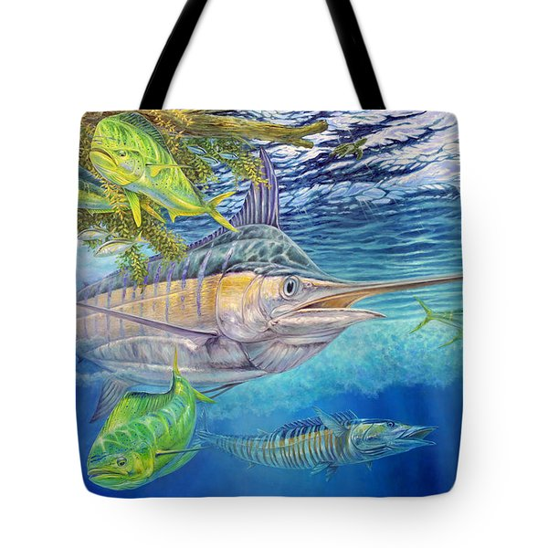 Big Blue Hunting In The Weeds Tote Bag