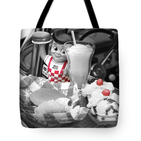 Big Boy In Black And White Tote Bag