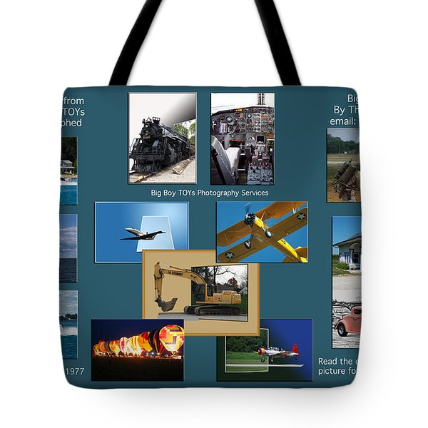 Big Boy Toys Photography Services Tote Bag by Thomas Woolworth