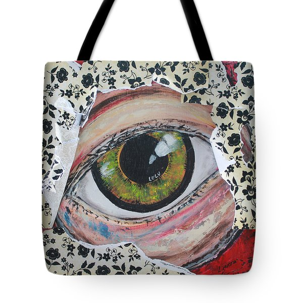 Tote Bag featuring the painting Big Brother by Lucy Matta