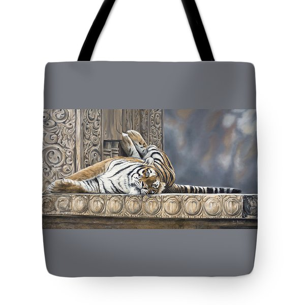 Big Cat Tote Bag by Lucie Bilodeau