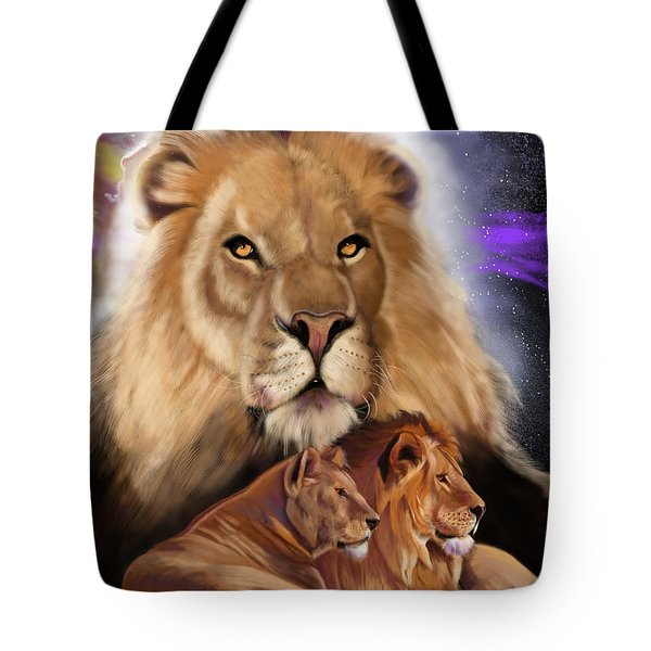 Third In The Big Cat Series - Lion Tote Bag