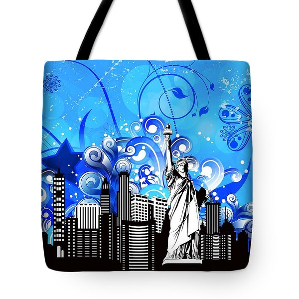 Big City Blues 4 Liberty Tote Bag by Stanley Mathis