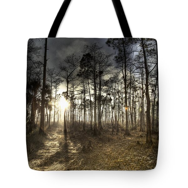 Big Cypress Fire At Sunset Tote Bag