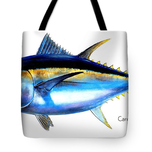 Big Eye Tuna Tote Bag by Carey Chen