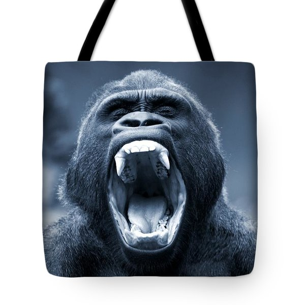 Big Gorilla Yawn Tote Bag
