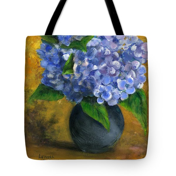 Big Hydrangeas In Little Black Vase Tote Bag