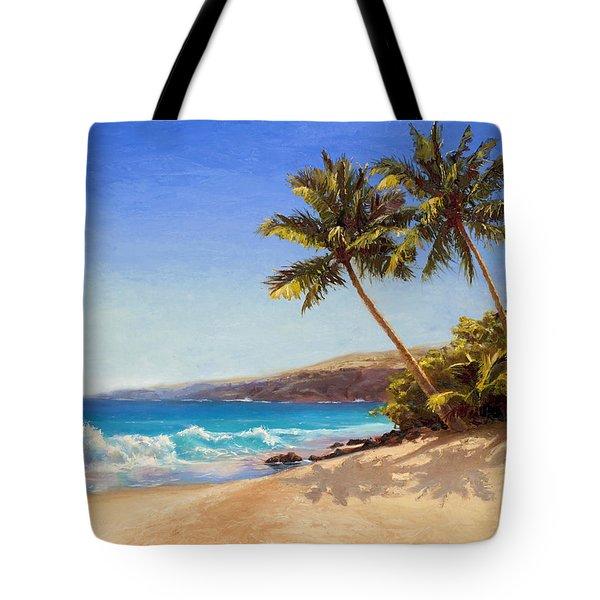 Hawaiian Beach Seascape - Big Island Getaway  Tote Bag
