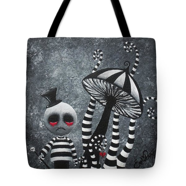 Big Juicy Tears Of Blood And Pain 6 Going 2 A Tea Party Tote Bag by Oddball Art Co by Lizzy Love