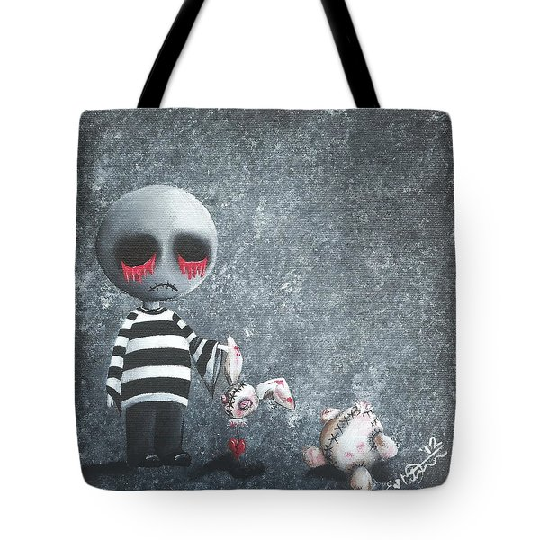Big Juicy Tears Of Blood And Pain 9 Tote Bag by Oddball Art Co by Lizzy Love