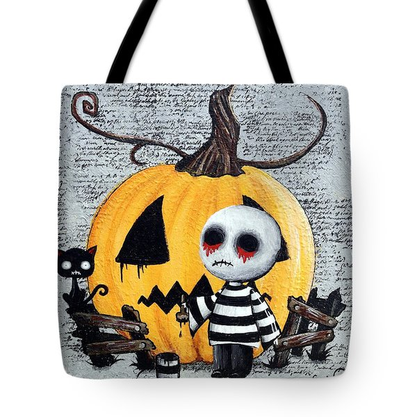 Big Juicy Tears Of Blood And Pain No. 11 The Great Pumpkin Tote Bag by Oddball Art Co by Lizzy Love