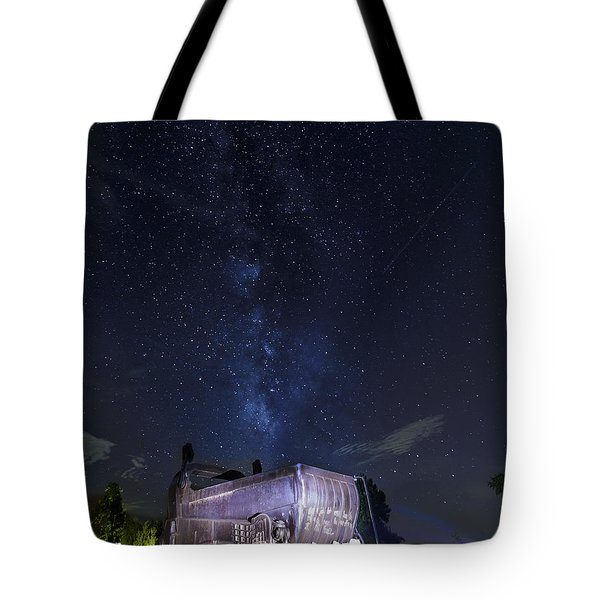 Big Muskie Bucket Milky Way And A Shooting Star Tote Bag