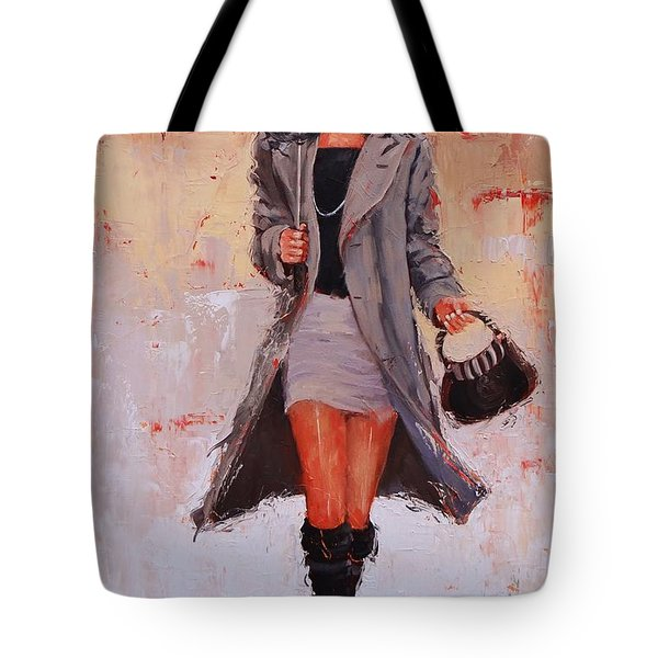 Big Red Tote Bag by Laura Lee Zanghetti