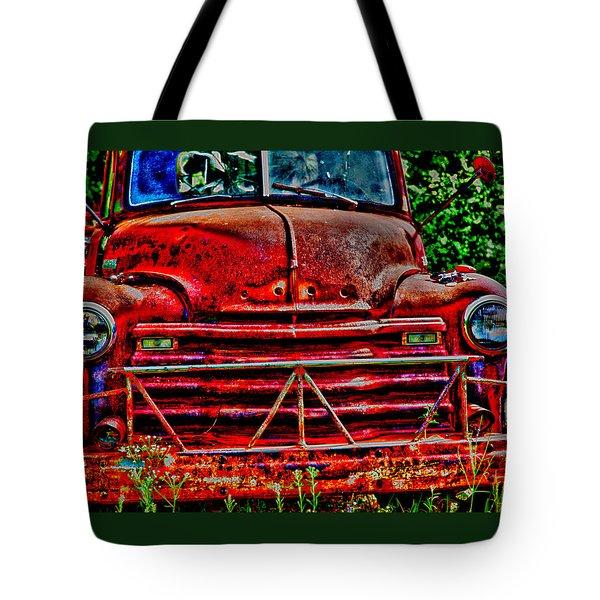 Big Red  Tote Bag by Toni Hopper