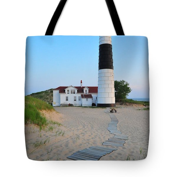 Big Sable Point Great Lakes Lighthouse Tote Bag