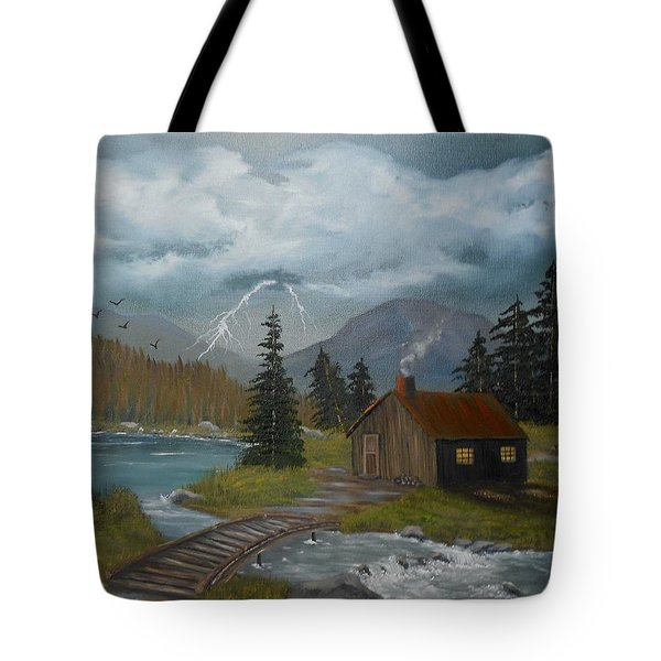 Big Storms A Comin' Tote Bag by Sheri Keith